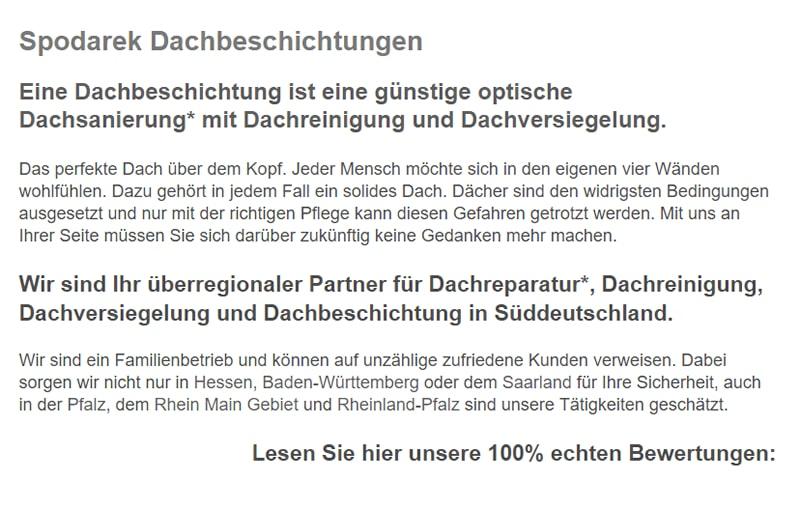 Dachbeschichtungen in  Stockstadt (Main), Mainaschaff, Kleinostheim, Aschaffenburg, Großostheim, Mainhausen, Schaafheim oder Glattbach, Karlstein (Main), Babenhausen