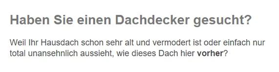Dachdecker / Zimmerei