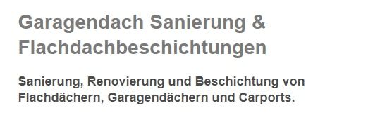 Garagendach Sanierungen aus 63811 Stockstadt (Main), Mainaschaff, Kleinostheim, Aschaffenburg, Großostheim, Mainhausen, Schaafheim oder Glattbach, Karlstein (Main), Babenhausen
